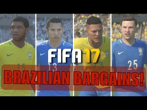 TOP 20 BRAZILIAN BARGAINS | FIFA 17 Career Mode