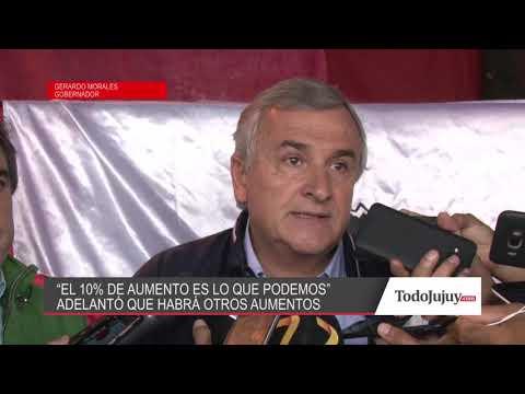 Gerardo Morales: El 10% es lo que podemos ofrecer