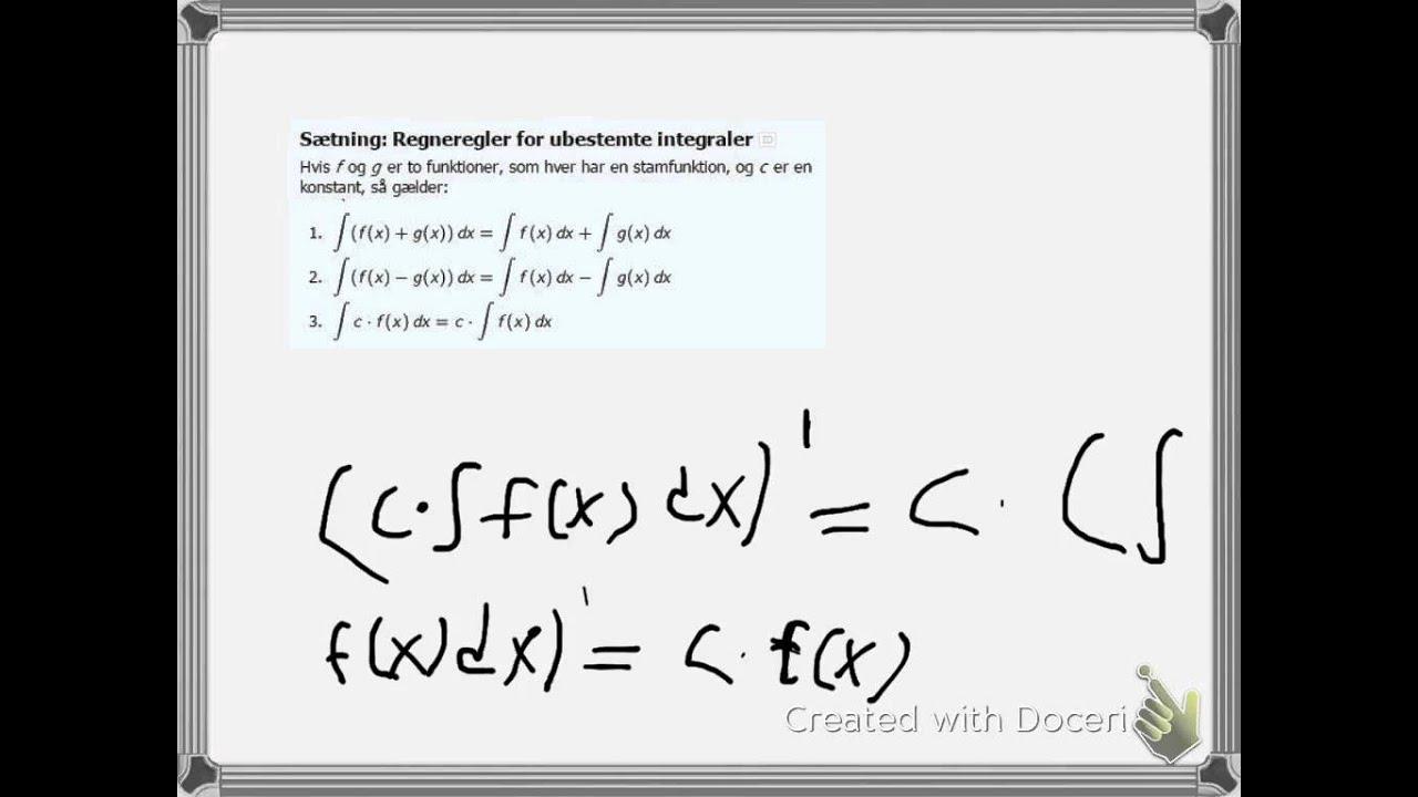 bevis ubestemte integraler