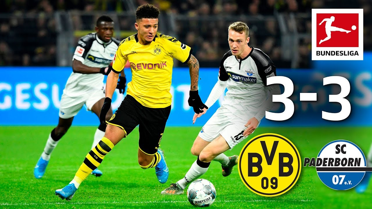 Borussia Dortmund Vs Sc Paderborn I 3 3 I Highlights I