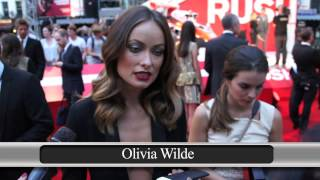 Lizzie Cundy interviews the cast at the UK Premiere of Rush