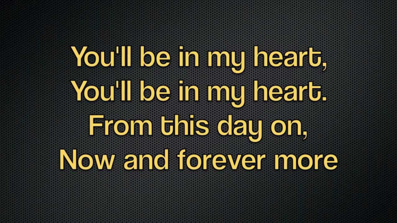 Phil Collins - You'll Be In My Heart (With Lyrics) - YouTube