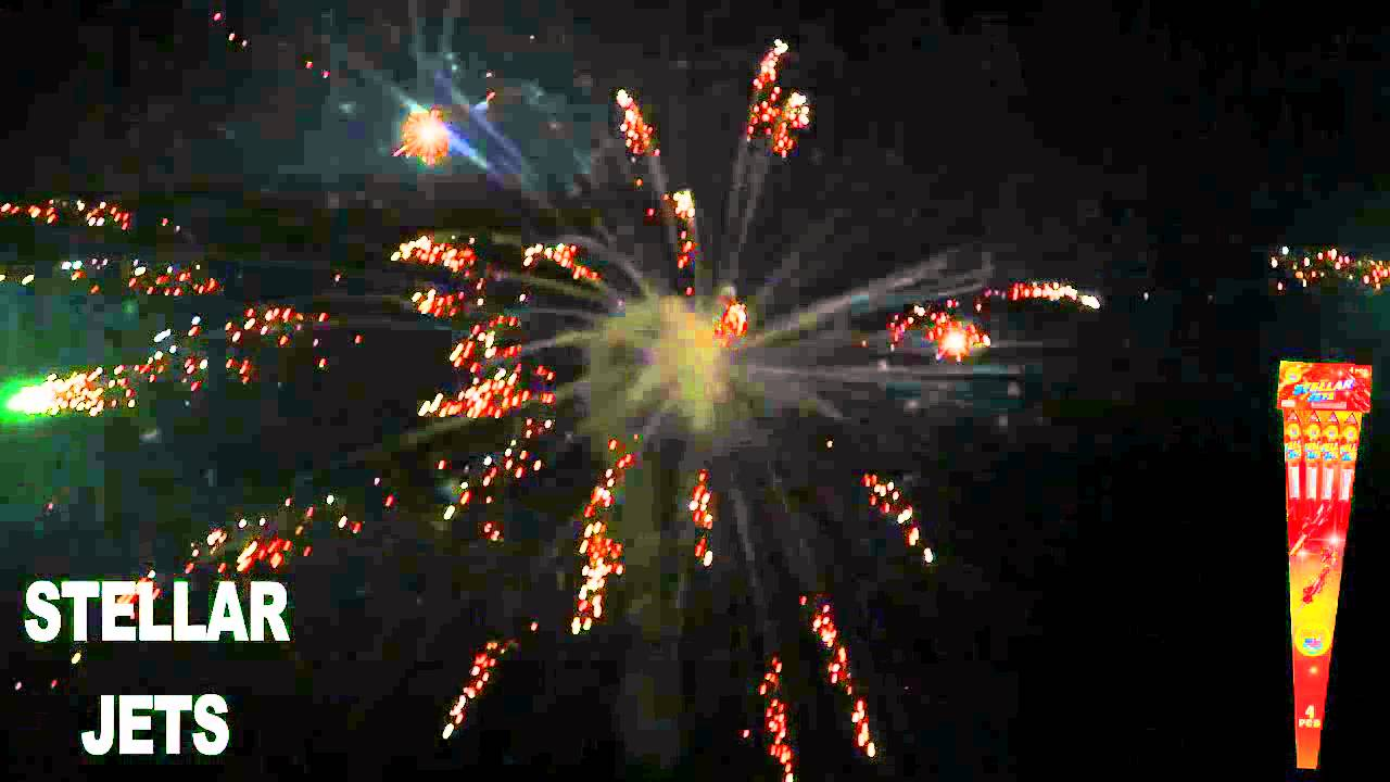 Stellar Jets Rockets World Class Fireworks 1533 - YouTube