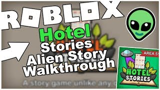 HOTEL STORIES - ALIEN STORY COMPLETE - A ROBLOX HORROR GAME (FULL WALKTHROUGH)! [ROBLOX]