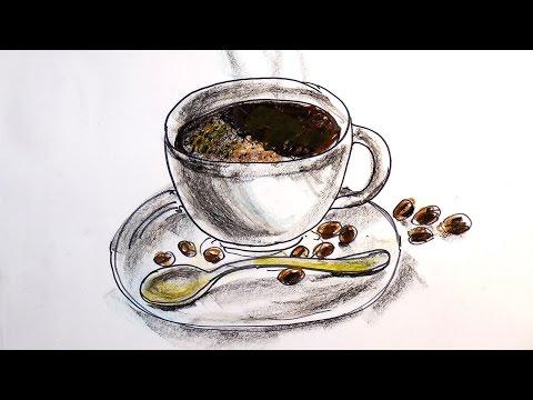 Чашка кофе на блюдце от РыбаКит