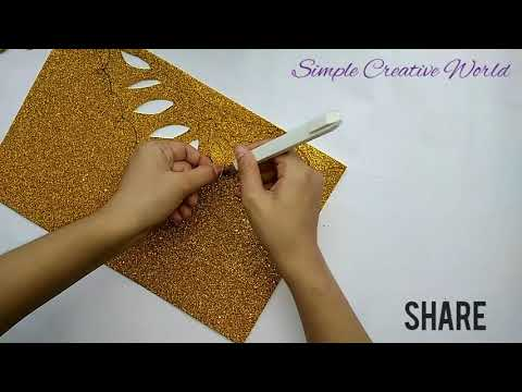 How to make queen crown using a paper by simple creative world