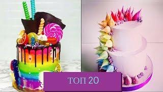 Топ 20 простых украшений тортов на день рождения в домашних условиях