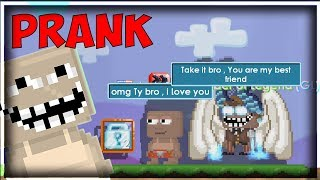 Dimension Block Prank to my friend ! (FUNNY)│Growtopia(그로우토피아)