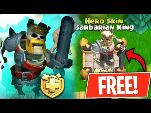HOW TO GET FREE NEW SKELETON BARBARIAN KING SKIN CLASH OF CLANS (HINDI)