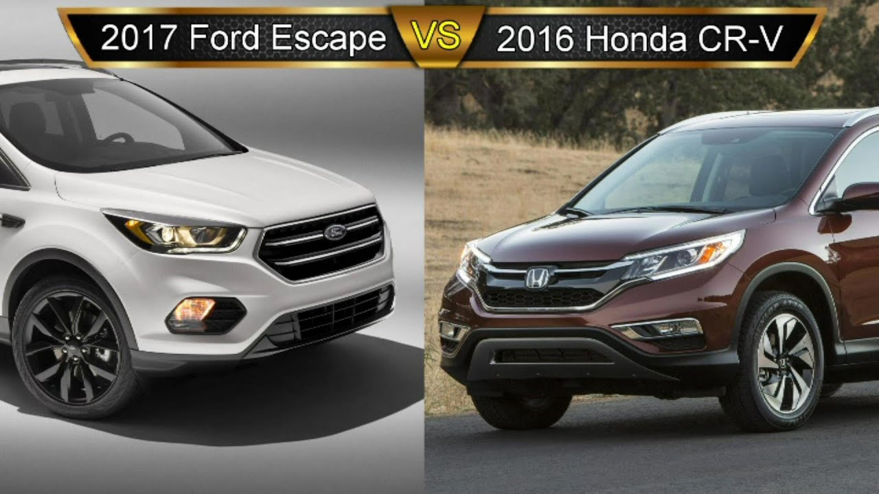 Subaru Outback Vs Forester >> 2017 Ford Escape vs. Honda CR-V: By the Numbers - YouTube