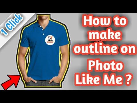 [One Click] How to make outline on Photo ? || On Android like Technical Guruji || hindi/Urdu