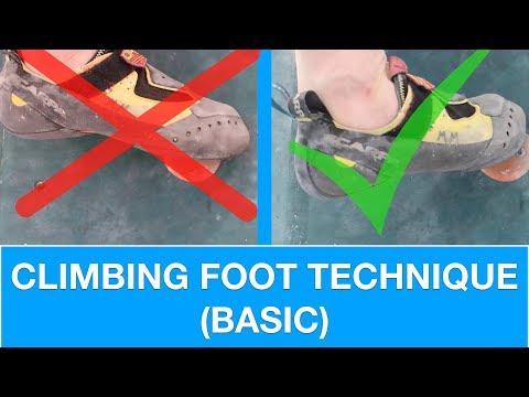 BASIC FOOT TECHNIQUE   CLIMBING TUTORIAL
