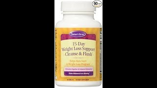 Natures Secret 15-Day Weight Loss Cleanse and Flush 60 Tablets