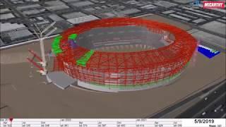 Las Vegas Raiders Stadium - 4 D Schedule Animation - Sept. 2018