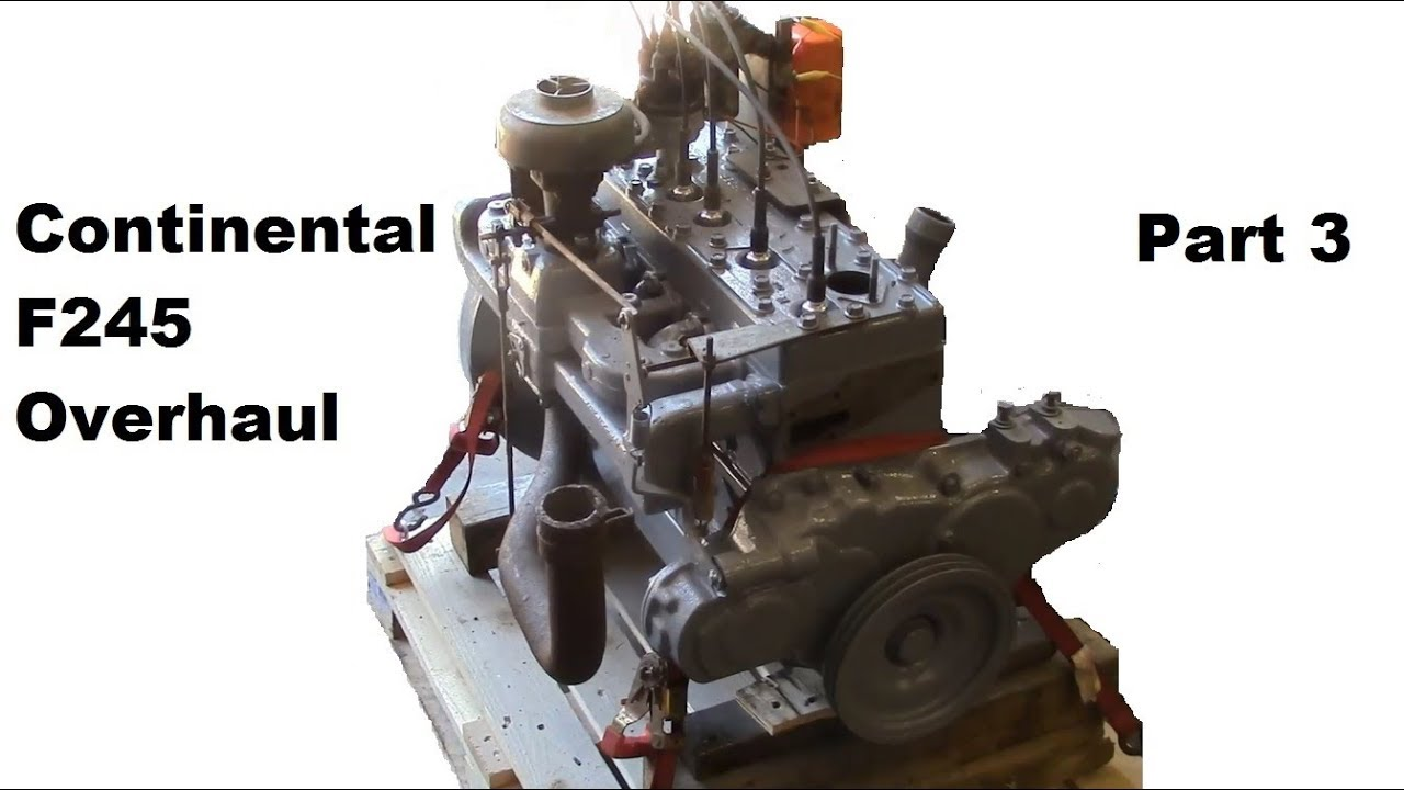 Continental F245 Flathead Engine Overhaul - Part 3 (ignition timing, first  start)