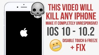 This Video will KiLL your iPhone! Freeze it and make Unresponsive IOS 10 - 10.2