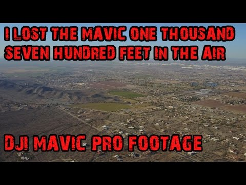 I LOST THE DRONE 1,700 FT IN THE AIR │ MAVIC 4K FOOTAGE
