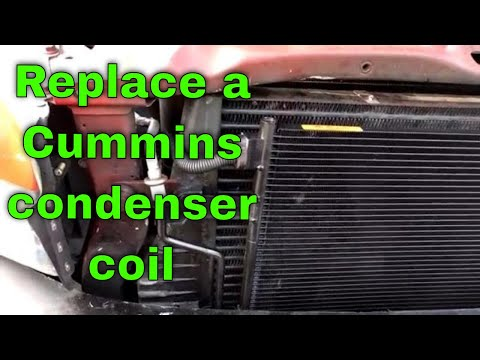 How to replace a Dodge condenser coil (A/C coil )