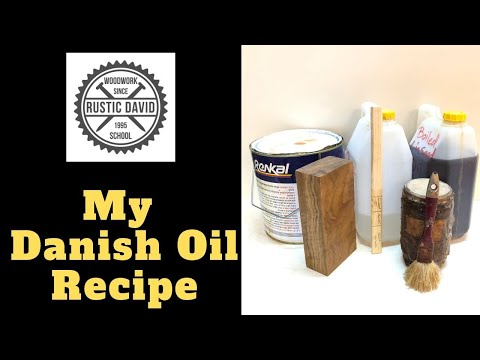 Make Your Own Danish Oil - For Wood