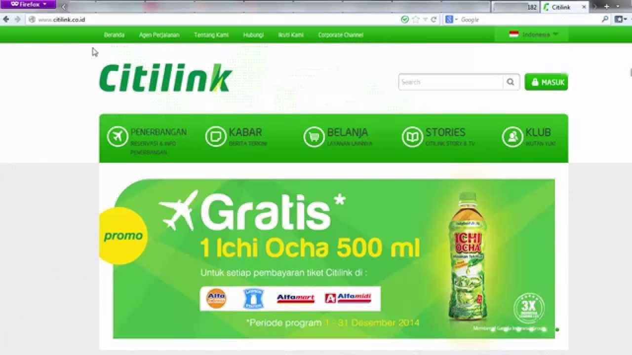 Cara Web Check In Di Website Citilink Youtube