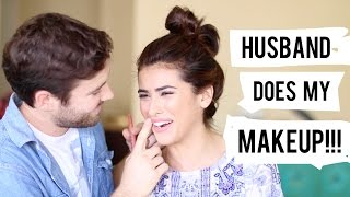 Husband Does My Makeup (ahhh!) | Hilarious Challenge