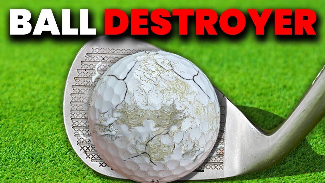 THIS AMAZING ILLEGAL GOLF CLUB DESTROYS GOLF BALLS