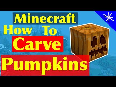 how-to-carve-a-pumpkin-no-mods-minecraft-pe-tutorial