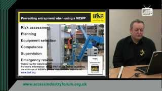 Preventing entrapment using a MEWP - IPAF