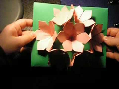 Pop Up Flower Card Youtube