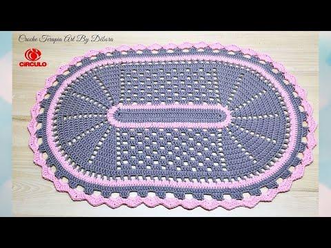 Tapete Pia - Jogo de Banheiro de Crochê Simples
