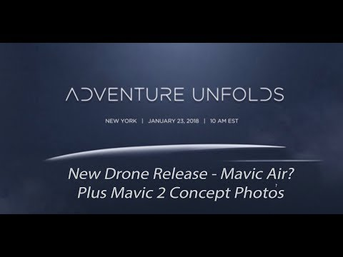New DJI Drone Release - Mavic Air PLUS Mavic 2 Concept Photos