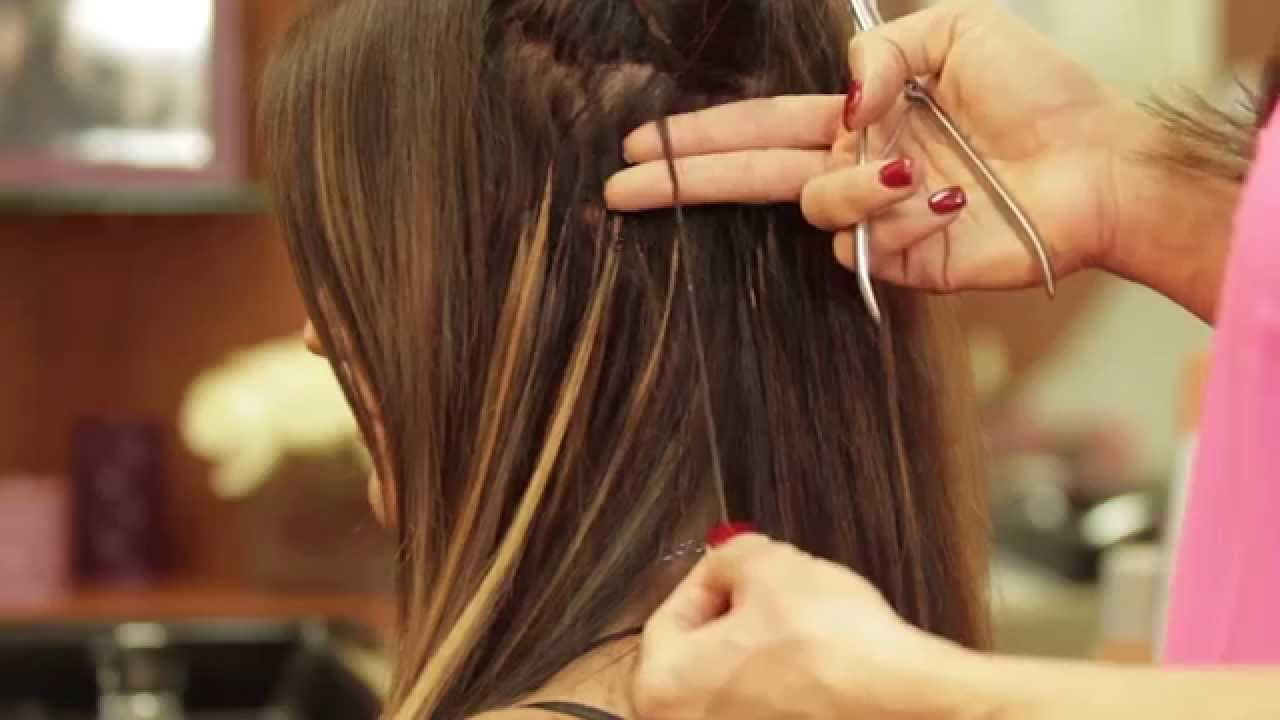 how to take out fusion hair extensions at home