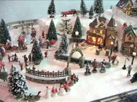 Best Christmas Village with electric trains - YouTube