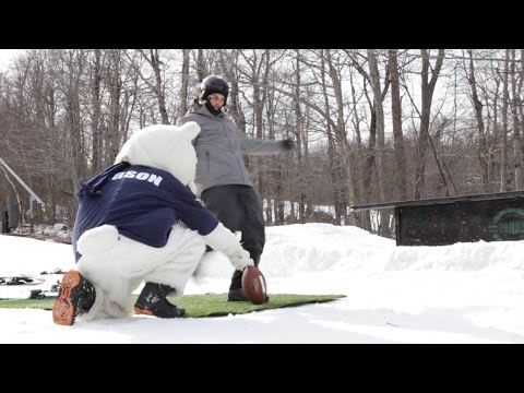 Stephen Gostkowski Kick at Wachusett Mountain