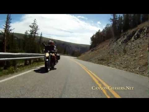 Motorcycle Ride over the Epic BearTooth Pass in Wyoming - Highway 212