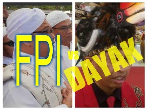 GEGER!!!DAYAK HADANG AKSI  DEMO Bela Ulama di Kalimantan,,