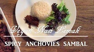 Vegan Nasi Lemak | Spicy Anchovies Sambal | Vegetarian Sambal