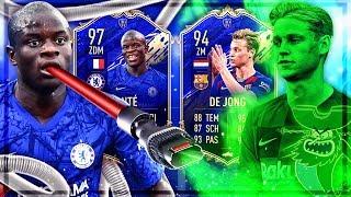 FIFA 20 : KANTE 97 TOTY vs DE JONG 94 TOTY SQUAD BUILDER BATTLE !! 🔥😱