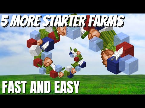 5 Minecraft Starter Farms: Easy Minecraft Farm Tutorial With 5 Starter Farms For Minecraft 1.16