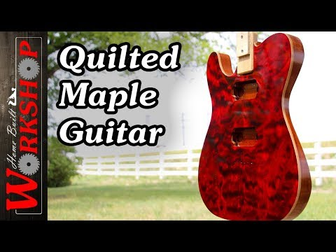 Dyeing a Quilted Maple Guitar