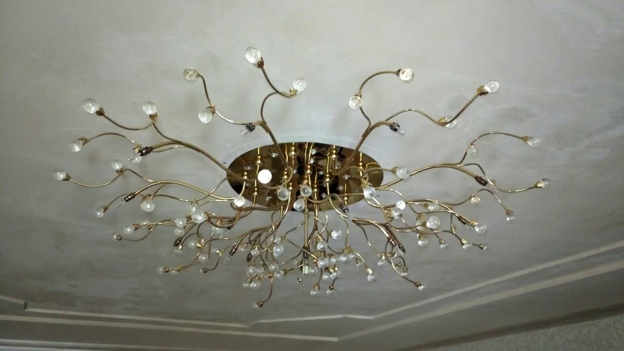 Установка люстры в гипсокартонный потолок