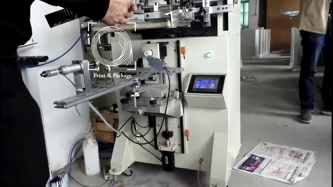 Трафаретная машина для печати по цилиндрическим ...