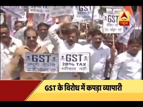 Jan Man: Textile industry traders protest against five per cent GST levy