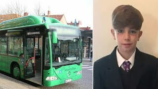 Tom hears young boy crying from the back of bus instantly see what