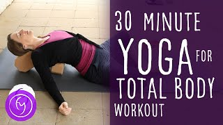 30 Min Yoga Total Body Workout Vinyasa Flow with Fightmaster Yoga