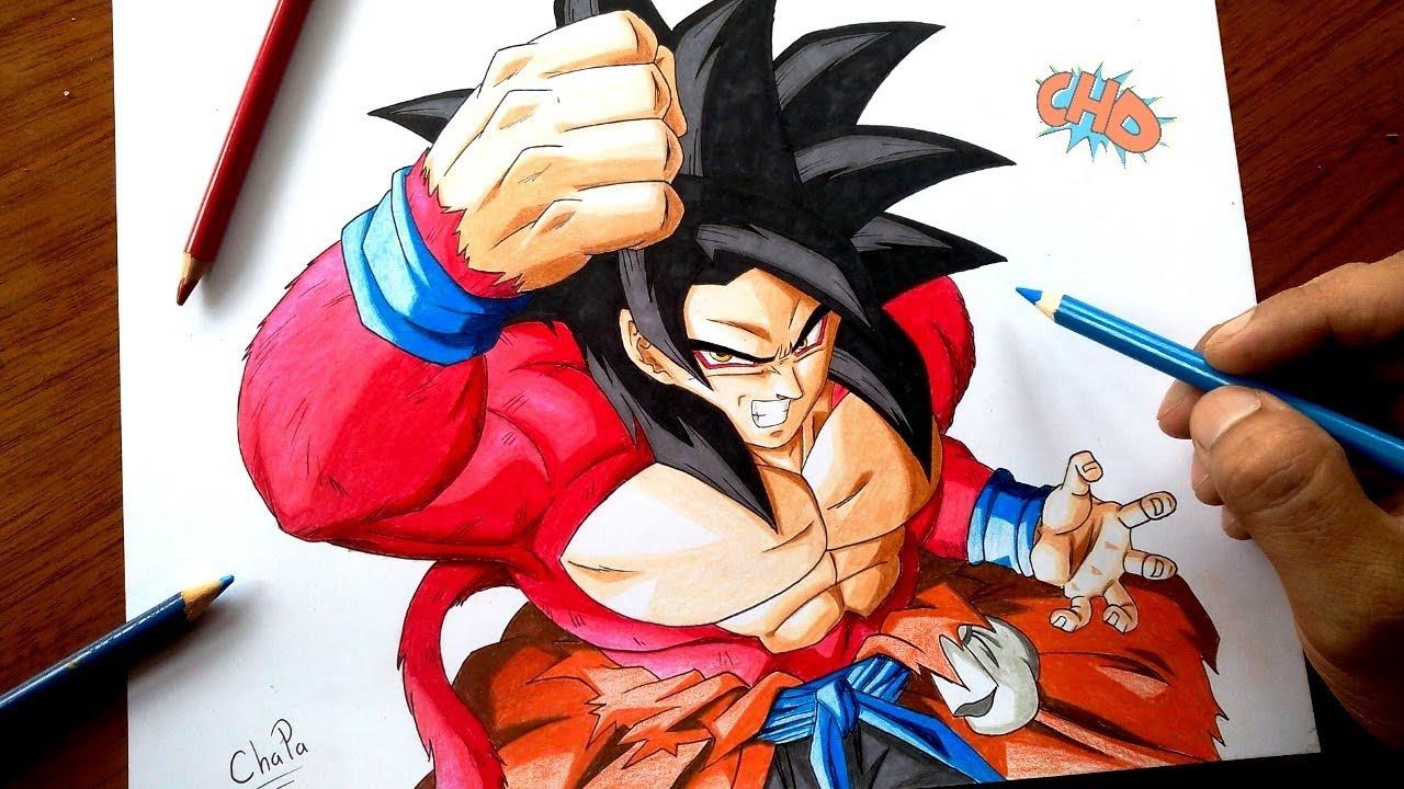Cómo Dibujar A Goku Xeno Ssj4 Dragon Ball Heroes How To Draw