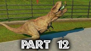 Jurassic World Evolution Gameplay Walkthrough Part 12 - T-REX ESCAPES