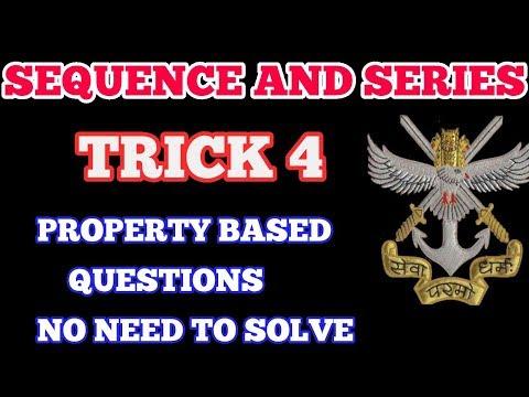 NDA MATHS TRICKS|SEQUENCE AND SERIES TRICKS|PROPERTY BASED QUESTIONS|AP, GP,HP TRICKS|NDA|HINDI thumbnail