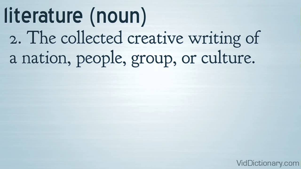 Literature Definition Youtube