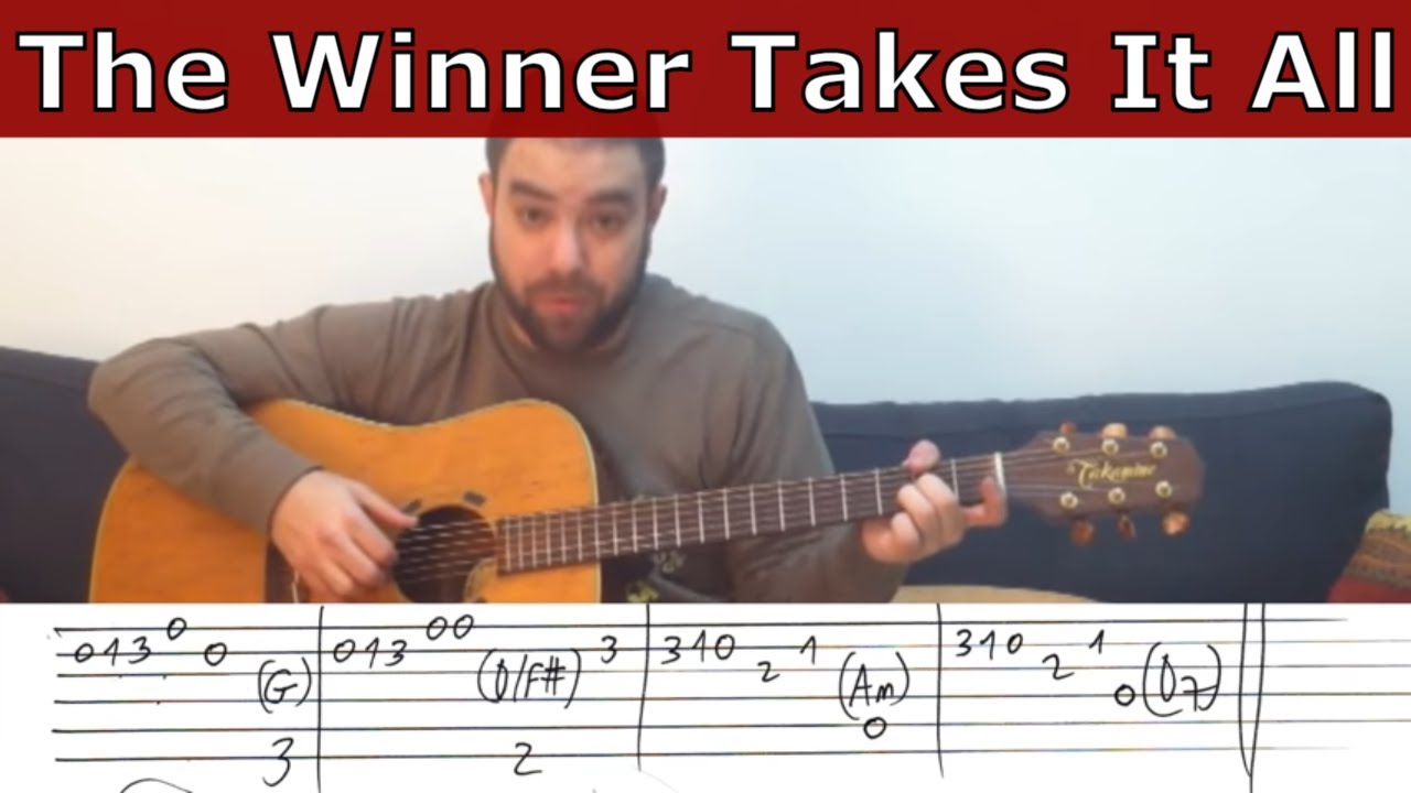 Fingerstyle Tutorial: The Winner Takes It All - Guitar